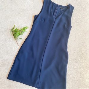 Banana Republic Navy V Neck Classic Dress